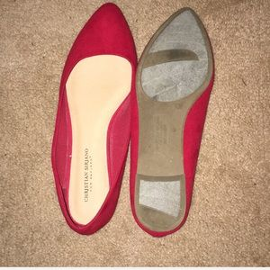 💋 CHRISTIAN SIRIANO FIRE RED FLATS💋
